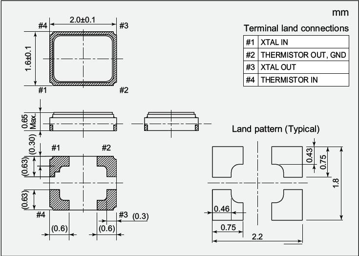 NDK晶振,贴片晶振,NX2016SF晶振,NX2016SF-19.2M-EXS00A-CS06709晶振